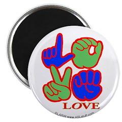 Square F.S. LOVE Magnet
