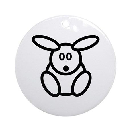 Just The Bunny Ornament (Round)