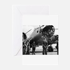 Battle Damaged B-17 Greeting Cards (Pk of 10)
