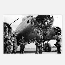 Battle Damaged B-17 Postcards (Package of 8)