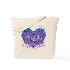 Twilight Eclipse Purple Heart Tote Bag
