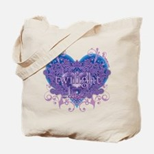Twilight Eclipse Purple Heart Tote Bag