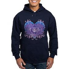 Twilight Eclipse Purple Heart Hoodie