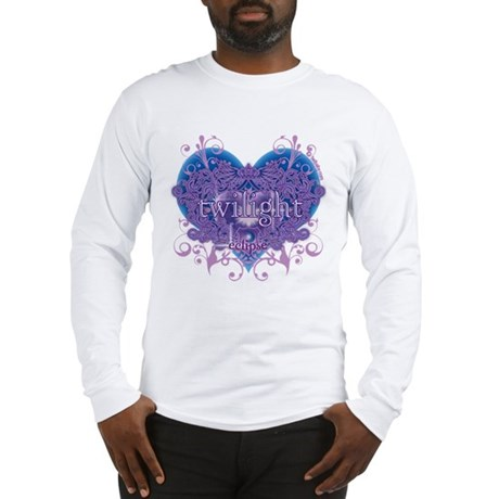 Twilight Eclipse Purple Heart Long Sleeve T-Shirt