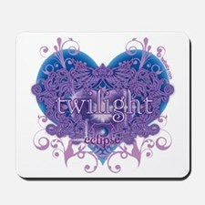 Twilight Eclipse Purple Heart Mousepad