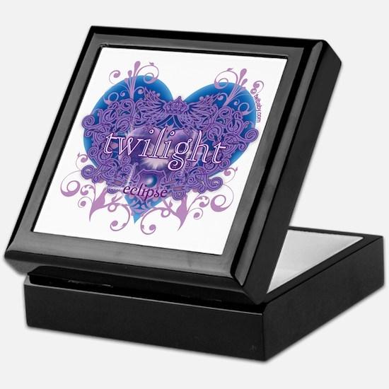 Twilight Eclipse Purple Heart Keepsake Box