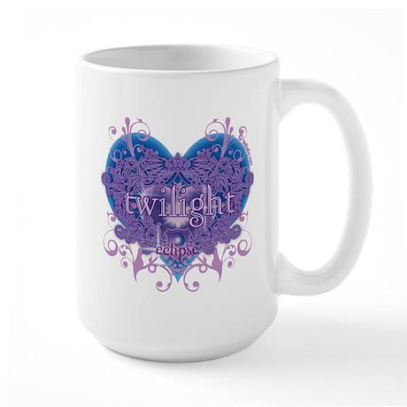 Twilight Eclipse Purple Heart Large Mug