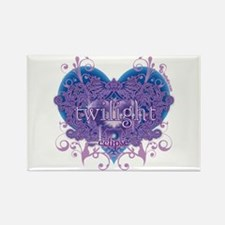 Twilight Eclipse Purple Heart Rectangle Magnet