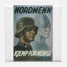 """Nordmenn"" Tile Coaster"
