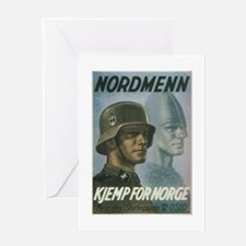 """Nordmenn"" Greeting Card"