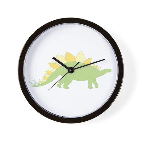 Green Stegosaurus Wall Clock