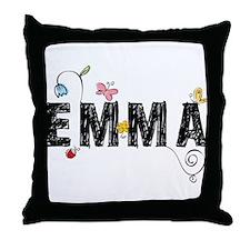 Floral Emma Throw Pillow