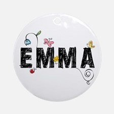 Floral Emma Ornament (Round)