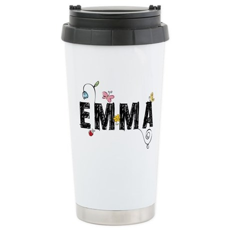 Floral Emma Stainless Steel Travel Mug