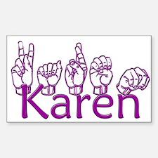 Karen-ppl Sticker (Rectangle)