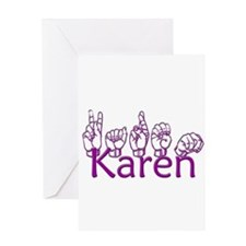 Karen-ppl Greeting Card