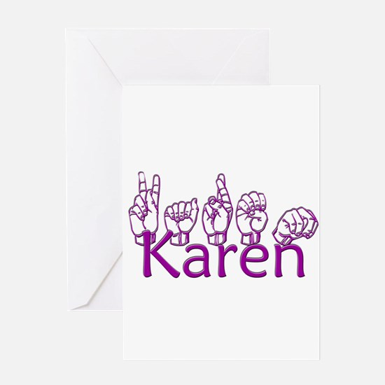 Karen-ppl Greeting Card