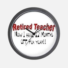 More Retirement Wall Clock