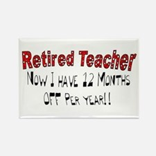 More Retirement Rectangle Magnet