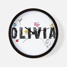 olivia floral Wall Clock