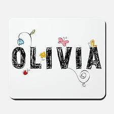 olivia floral Mousepad