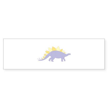 Purple Stegosaurus Sticker (Bumper)