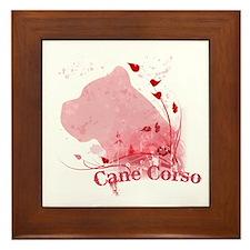 Cane Corso Pink Framed Tile