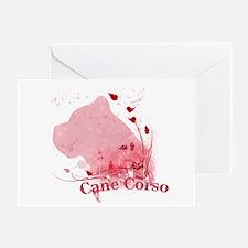Cane Corso Pink Greeting Card