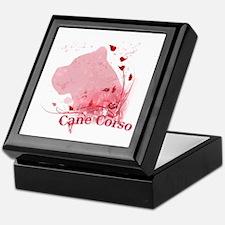 Cane Corso Pink Keepsake Box