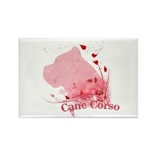 Cane Corso Pink Rectangle Magnet