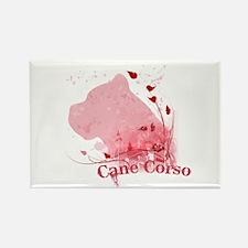 Cane Corso Pink Rectangle Magnet