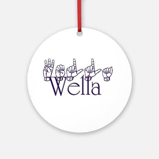 Wella Ornament (Round)