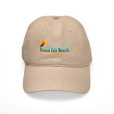Ocean Isle Beach NC - Beach Design Baseball Cap