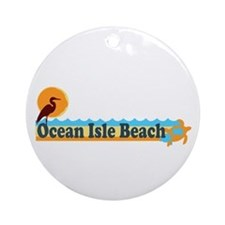 Ocean Isle Beach NC - Beach Design Ornament (Round