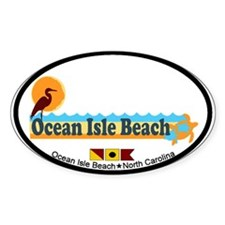 Ocean Isle Beach NC - Beach Design Decal
