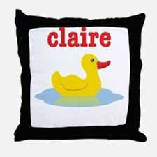Claire's rubber ducky Throw Pillow