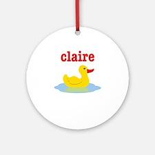 Claire's rubber ducky Ornament (Round)