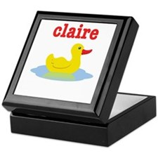 Claire's rubber ducky Keepsake Box