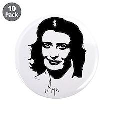 "Ayn, revolutionary thinker. 3.5"" Button (10 p"