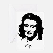 Ayn, revolutionary thinker. Greeting Card