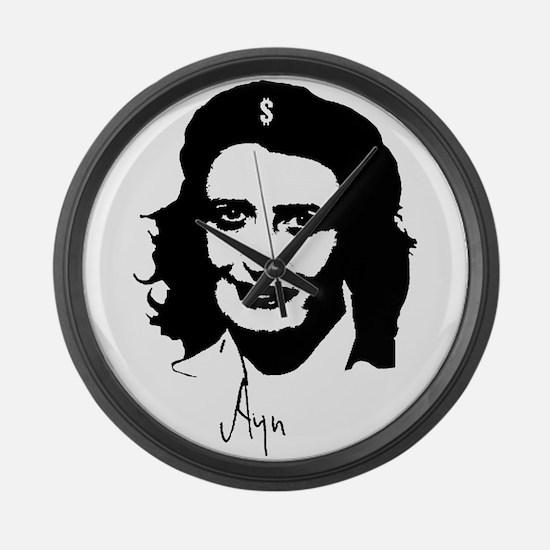 Ayn, revolutionary thinker. Large Wall Clock