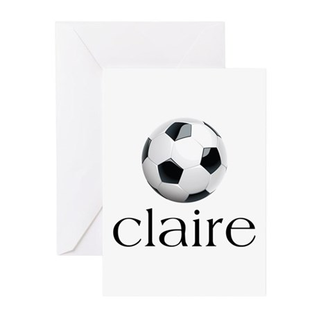 Claire Soccer Greeting Cards (Pk of 10)