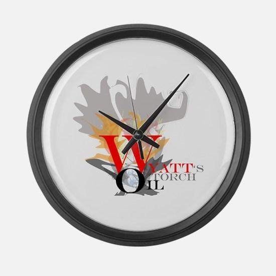 Wyatt's Torch Large Wall Clock