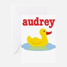 Audrey's Rubber Duck Greeting Card