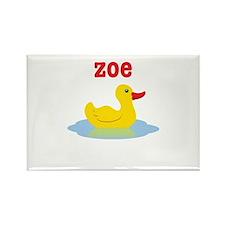 Zoe's Rubber Ducky Rectangle Magnet