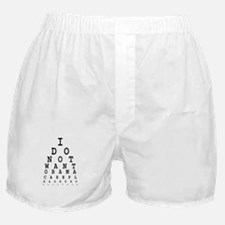 Obamacare eye test. Boxer Shorts