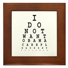 Obamacare eye test. Framed Tile