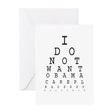 Obamacare eye test. Greeting Card
