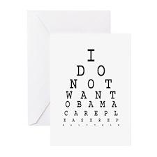 Obamacare eye test. Greeting Cards (Pk of 10)