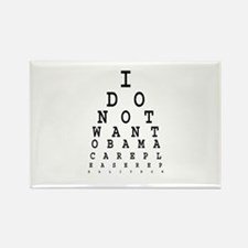 Obamacare eye test. Rectangle Magnet